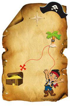 """Artes Digitais gratuitas para Aniversário """"Jake e os Piratas"""""""
