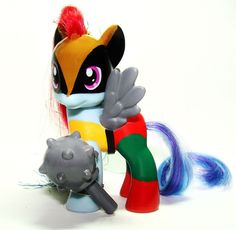 My Little Pony Hawkgirl Custom figure Super hero MLP Justice League Hawk OOAK #Hasbro