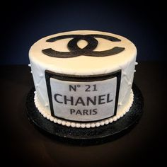 #cake #Chanel #novelty #custom #elegance #classic #black&white #sinfulsweets #birthday