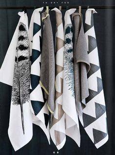 beautiful! DIY tea towels