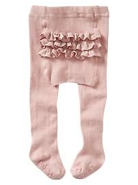 Ruffle tights...love the muted dusty rose  color.