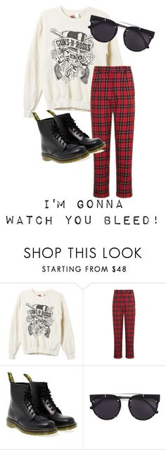 """GNR"" by bfposey on Polyvore featuring MadeWorn, Topshop, Dr. Martens and Vera Wang"