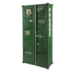 Industrial Armoire, Antique Green