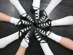Irish Dance Shoes - I still remember getting them a size smaller and slowly wearing them until they stretched out and formed to fit your feet.