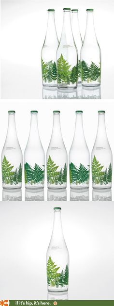 Limited edition Fuensanta Glass Water bottles designed by Pati Nuñez Associates of Spain
