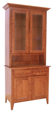 Vermont-Made Shaker Buffet and Hutch | Solid Wood Dining Case ...