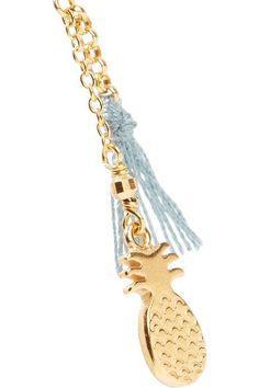 Chan Luu   Tasseled gold-plated silver earrings   NET-A-PORTER.COM
