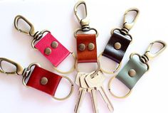 Durable  & Strong Leather key chain/key fob/key by AwesomeWomen, $7.00