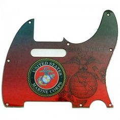 Telecaster United States Marine Corps Pickguard - 2-ply - 146 Guitar Gifts, 2 Ply, Marine Corps, United States, Accessories, Jewelry