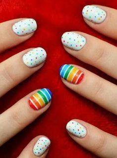 Uñas arcoiris!