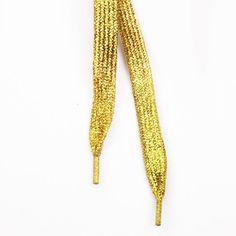 Kultaiset Glitter Kengännauhat | Cybershop