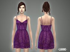 The Sims Resource: Lianne - dress by April • Sims 4 Downloads