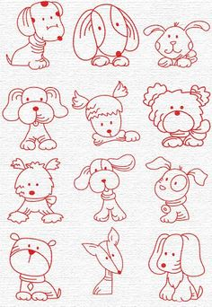 Drawing Doodles Sketches Free Embroidery Designs, Sweet Embroidery, Designs Index Page Embroidery Designs, Hand Embroidery Patterns, Embroidery Stitches, Machine Embroidery, Quilt Patterns, Embroidery Supplies, Ribbon Embroidery, Doodle Drawings, Animal Drawings