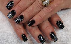 PRODUCTS USED IN THIS VIDEO CND Shellac Base Coat ibd Just Gel Polish in Black Lava CND Shellac Express 5 Top Coat Chunky Fine Silver Holo glitter from Glitt...
