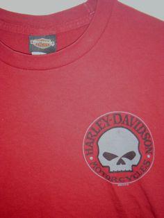 men's sz Small Harley-Davidson t-shirt Chambersburg, Pennsylvania PA skull logo #HarleyDavidson #GraphicTee