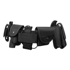 FDG Tactical Utility Belt with Holster Modular Duty Gear BLACK (€16) ❤ liked on Polyvore featuring belts, weapons, accessories and bags