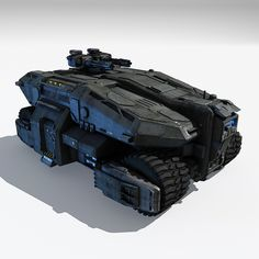 3d model of scifi apc