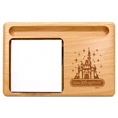 Walt Disney World Cinderella Castle Memo Holder by Arribas - Personalizable