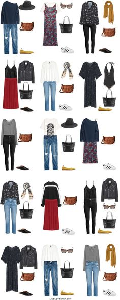 Travel with Travelon Bags! What to Pack for one month in Italy Packing Light List Outfit Options 16-30