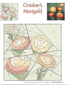 24 flower quilt blocks 17 | Flickr - Photo Sharing!