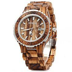 Bewell 100BG Wooden Watch Best Offer. Bewell 100BG Wooden Watch Analog Quartz Light Weight Vintage Wrist Watch for Men (Zebra Wood). Handmade Natural Wood Material:Each observe remarkably made #menswatchesvintage