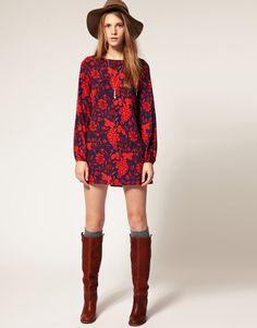 Vero Moda Grape Print Shift Dress