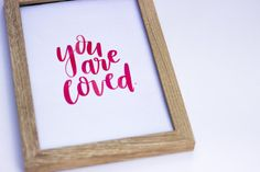 You Are Loved print // handlettered digital by BlankPageLettering