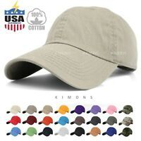 New Plain Solid Washed Cotton  Style Baseball Ball Cap Caps Hat Adjustable