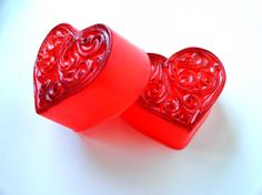 Red Hot Cinnamon Heart Soap by Bubblinas on Etsy, $4.50