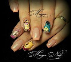 Winnie the pooh & gang nails