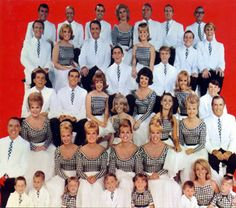 The King Family~I remember watching their TV specials (esp at Christmas) when I was little.  My grandmother just loved them.  There were all these husbands, wives, kids and grandkids!  The family started out as just the King Sisters a singing group in the 40's.