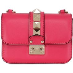 Valentino Women Mini Lock Nappa Leather Shoulder Bag ($1,575) ❤ liked on Polyvore featuring bags, handbags, shoulder bags, coral, miniature purse, clasp purse, valentino handbags, red purse and red handbags