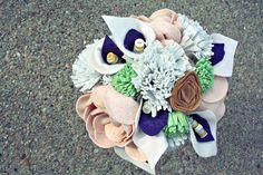 felt flower bouquet by princesslasertron w/ calla lilies...so much lurve