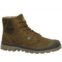 Palladium Pampa Hi Lite Lea Sunrise Bou Brown Boots