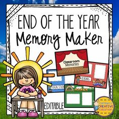 End of the Year Memories Movie/SlideshowAre you looking for a great way to put all of those pictures you have been taking throughout the year to good use? You are going to love just placing your pictures into the boxes and having a wonderful movie/slideshow for your students!