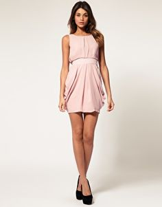 Enlarge ASOS Tulip Dress with Tie Back. And Black Pumps for Punch!