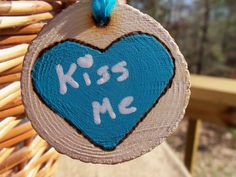 Rustic Valentine Chalkboard Heart Necklace by GoRustic on Etsy