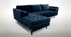 Sven Cascadia Blue Left Sectional Sofa - Sectionals - Article | Modern, Mid-Century and Scandinavian Furniture
