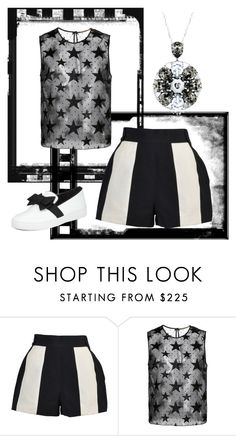 """""""Stars, Stripes and Bows"""" by mel-c-n on Polyvore featuring Claude Montana, Yves Saint Laurent, Michael Kors, polyvorecontest, patternmixing and totwoo"""
