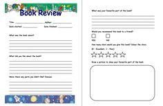Book Report Template Write And Format A Form For Graders with Book Report Template Grade 1 - Professional Template Book Review Template Ks2, Book Report Templates, Writing A Book Review, Report Writing, First Grade Books, Middle School Books, Free Kids Books, Book Reviews For Kids, Reading