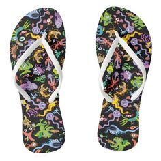 Shop Colorful crazy monsters posing in a pattern design flip flops created by ZoocoDrawingLounge. Chart Design, Pattern Design, Simple Doodles, Weird Creatures, Mandala Design, Surface Pattern, Doodle Art, Flipping, Color Patterns