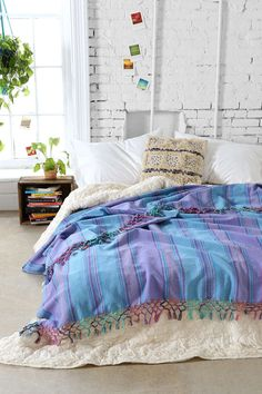 Magical Thinking Woven Fringe Bed Blanket - Urban Outfitters