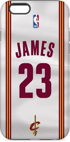72a1d087ef45 LeBron James  23 Cleveland Cavaliers Home Jersey iPhone 6 inkFusion Pro  Case. Available as