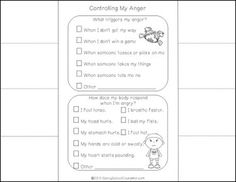 ANGER MANAGEMENT ACTIVITY PACK-updated - TeachersPayTeachers.com