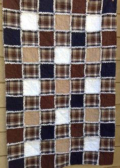Items similar to Handmade baby rag quilt in all flannel, super soft. Made from plaid flannel, and solid flannel squares. Baby Rag Quilts, Flannel Quilts, Handmade Baby Quilts, Boy Quilts, Flannel Blanket, Neo Grunge, Soft Grunge, Grunge Style, Quilting Projects