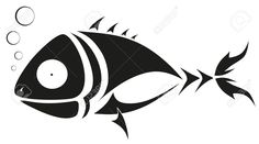 stencil art fish - Google Search