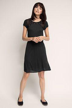 edc - Jerseykjole med chiffondetaljer i Esprits Online-Shop
