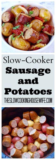 Slow Cooker Sàusàge ànd Potàtoes | Kristin Food