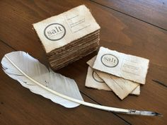 Eco friendly Printed Vintage style/Coffee-stained card from handmade recycled paper/ Custom Business Card/ Rustic Business Card - 100 pcs