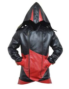 Assassins Creed Connor Kenway Black Halloween Cosplay Costume Hoodie - Men Assassins Creed Hoodie, Connor Kenway, Cosplay Costumes, Halloween Cosplay, Hoodie Jacket, Leather Jacket, Lambskin Leather, The Ordinary, Black Leather